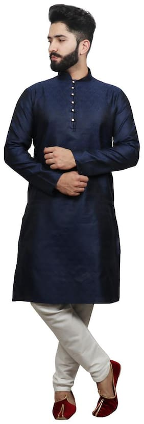 SG LEMAN Luppi Kurta with Pyjamas For Men - Blue