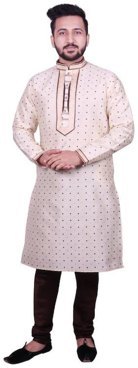 SG LEMAN Brown Polka dolts Kurta and Pyjamas