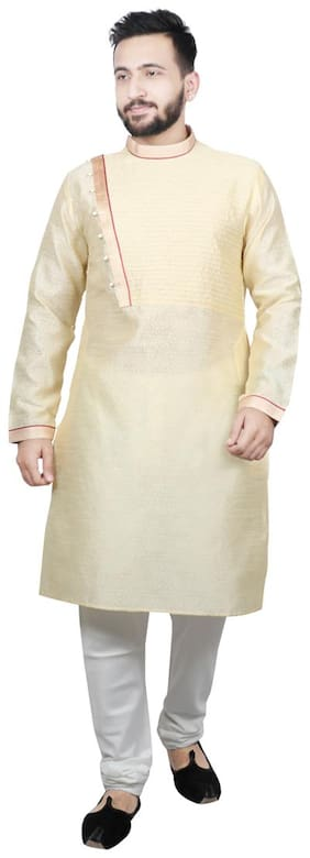 Sg Leman Pintex Design Kurta Payjama For Men - Gold