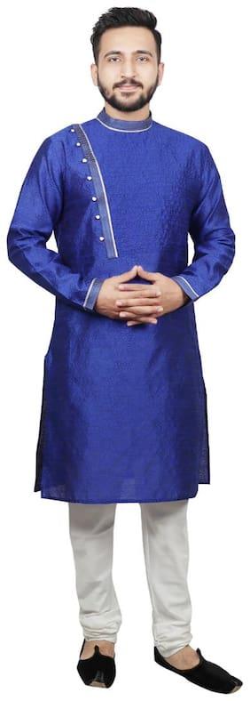 SG LEMAN Pintex Design Kurta Payjama For Men - Blue