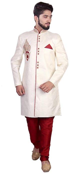 SG Silk Medium Sherwani - White