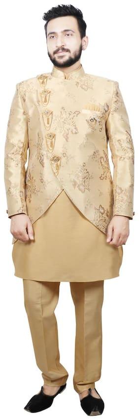 Men Cotton Kurta Pyjama With Jacket