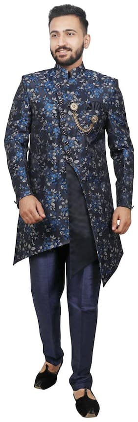 Men Printed Regular Fit Sherwani ,Pack Of 2
