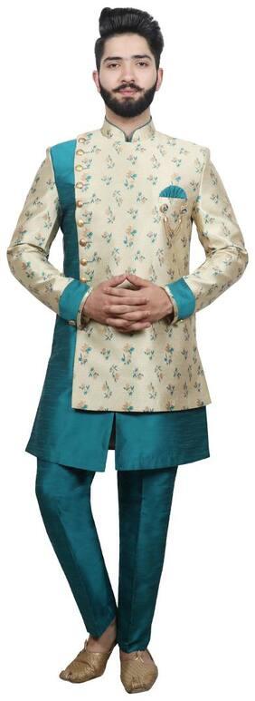 Men Floral Regular Fit Sherwani ,Pack Of Pack of 2