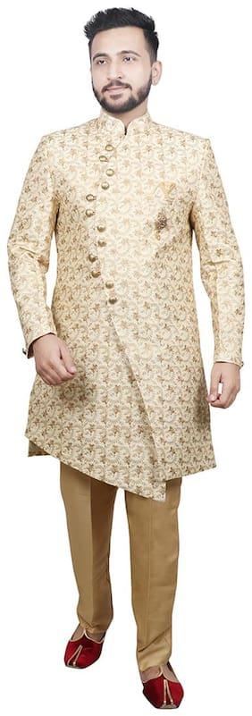 Men Printed Regular Fit Sherwani ,Pack Of 2