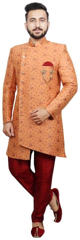 Men Floral Regular Fit Sherwani