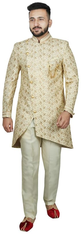 Men Floral Regular Fit Sherwani