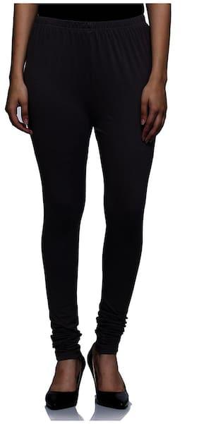 Sgatra Grey Churidar Cotton Lycra Solid Leggings