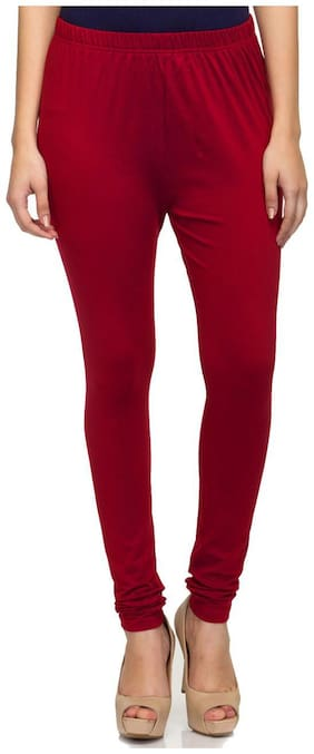 Sgatra Blended Leggings - Maroon