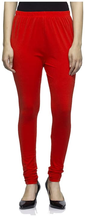Sgatra Blended Leggings - Red