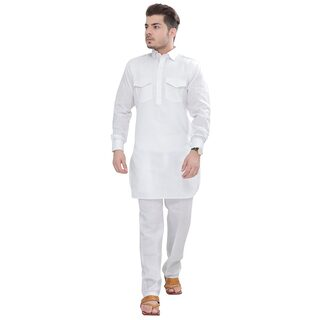 Buy Sgleemen Partywear Mens Summer Pathani Kurta And Pent Cut Pajama