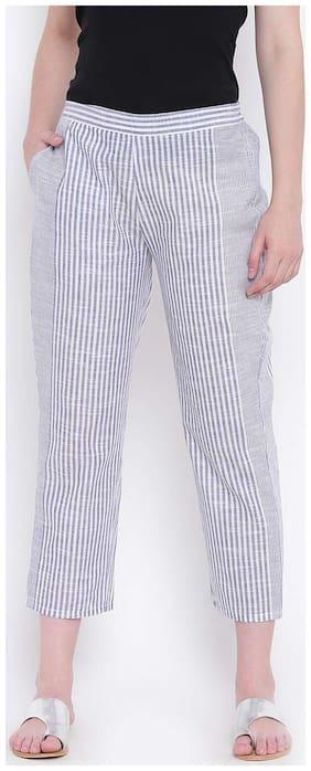 Women Striped Bootcut Pants