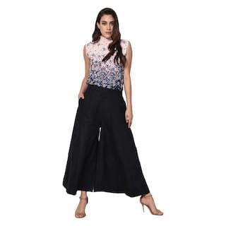 Shararat Nights Stylish Solid Kali Palazzo Readymade Regular Fit Cotton Palazzo Pants/Palazzo For Girls / Ladies / Women
