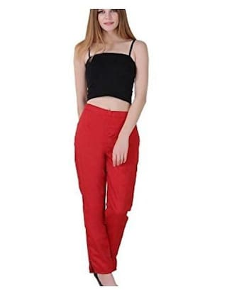 Girls Ladies Cotton Narrow for Fashionable Trousers Ethnic Casual Shararat Women Bottom Nights Silk xUnpUv7Z