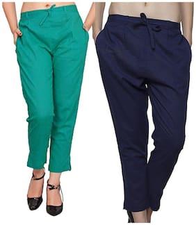 SHARARAT NIGHTS Women Multi Slim fit Regular pants