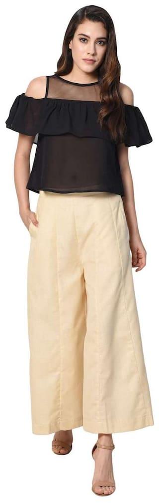 Kali Fit Girls Nights Ladies Regular Cotton Solid Pants For Palazzo Palazzo Women Palazzo Stylish Shararat Readymade wStUw