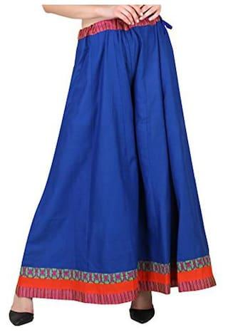 Shararat Night Stylish Women's Cotton Flared Palazzo For Girls / Ladies / Womens