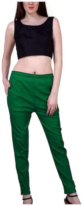 SHARARAT NIGHTS Women Green Narrow fit Cigarette pants