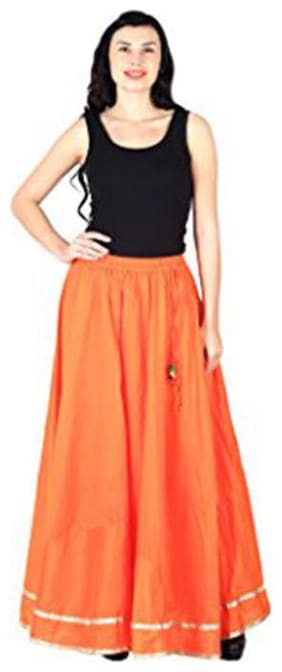 Shararat Stylish Designer Flared Readymade Regular Fit Stretchable Skirt Free Size For Girls / Ladies / Womens Sharara