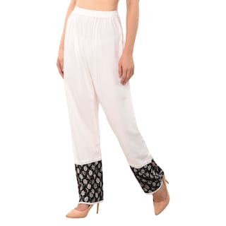 Free Cotton Shararat Stylish Size Printed Palazzo Womens with Fit Designer Readymade Pants for Stretchable Flared Regular Ladies Girls xP1w0grPq