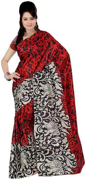 Shardacreation Multicolor Blended Saree