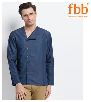 Shatranj Men Regular fit Casual shirt - Blue