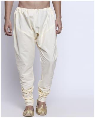 Shatranj Men Solid Regular Cotton Pyjama (Beige)