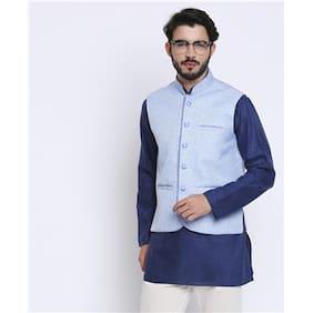 Shatranj Textured Nehru Jacket