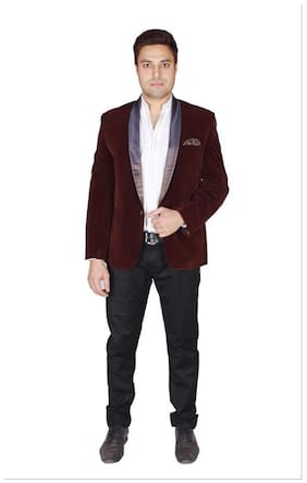 Shaurya-F Brown Colour Decent Blazer In Latest Taxido Pattern In Soft Skin Friendly Velvet Fabric.