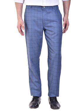 Shaurya-F Regular Fit Check Formal Trouser For Mens