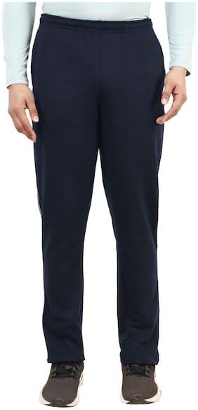 Shellocks Men Navy blue Solid Regular fit Track pants
