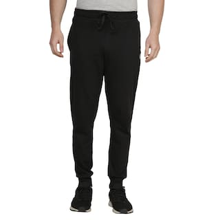 Shellocks Men Black Solid Regular fit Joggers