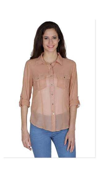 Mayra Beige Shirts For Women