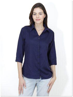 Mayra Blue Rayon Shirt