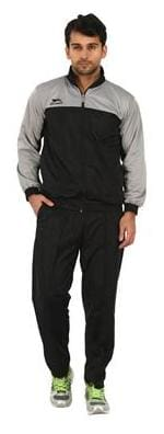 Shiv Naresh Men Polyester Blend Track Suit - Black