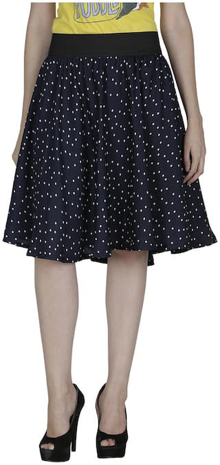 SHOPINGFEVER Blue Crepe Skirt