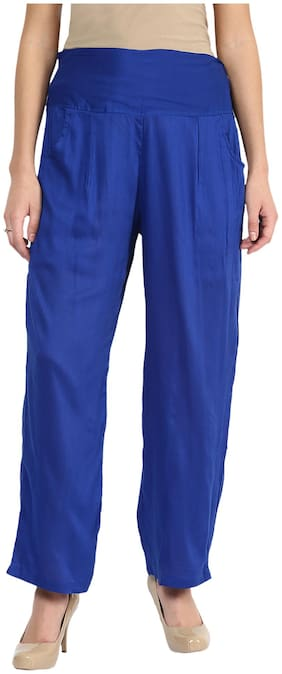 SHOPINGFEVER Blue Rayon Plazzo