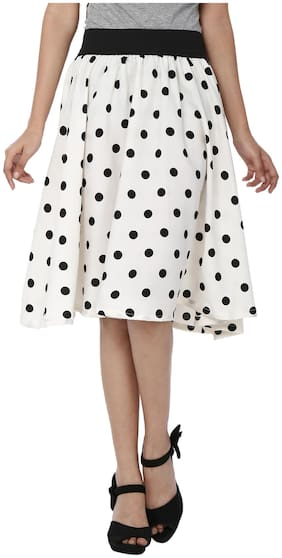 SHOPINGFEVER White Crepe Skirt