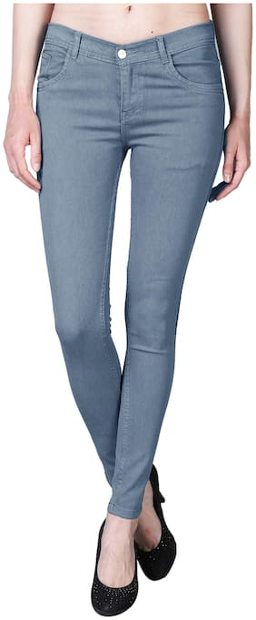 Shopjinie Women Grey Slim fit Jeans
