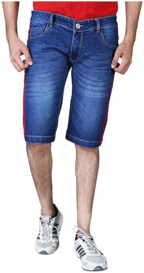 Shopjinie Men Solid DenimBlue  Shorts