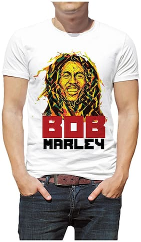 Shopmantra Bob Marley Design Limited Edition Round Neck Half Sleeve Casual Graphic Printed T-Shirt
