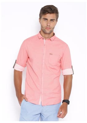 Showoff Men Slim Fit Casual shirt - Pink