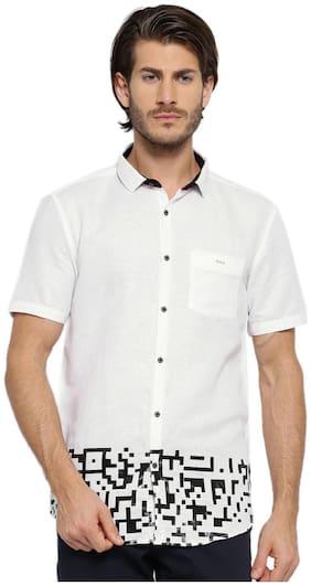 Showoff Men Slim Fit Casual shirt - Grey