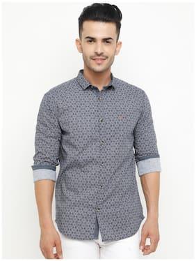 Show off Men Slim Fit Casual shirt - Blue & Grey