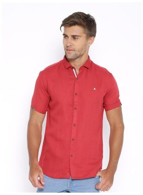 Showoff Men Slim Fit Casual shirt - Red