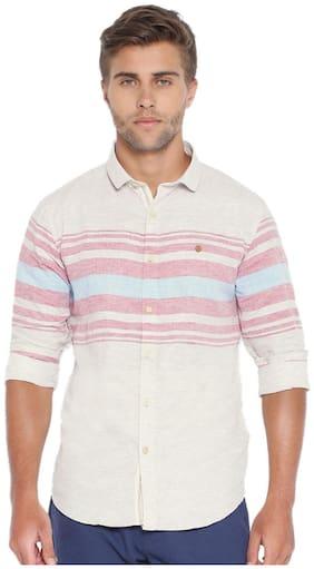 Showoff Men's Striped Multi Casual Shirt