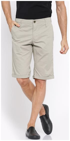 Show off Men White Slim Fit Regular Shorts