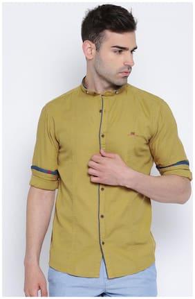 Showoff Men Slim Fit Casual shirt - Beige