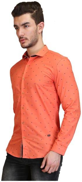 Showoff Orange Linen Shirt