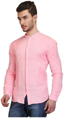 Showoff Pink Linen Shirt